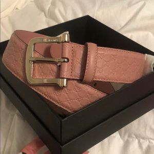 NWT Pink Gucci Belt